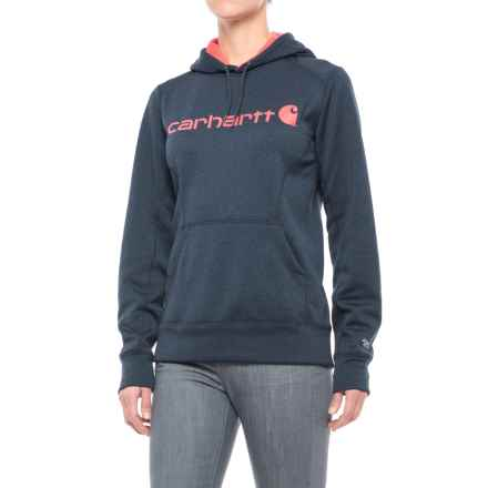 Carhartt Force Extremes Signature Graphic Hoodie - Factory Seconds (For Women) in Indigo Heather - 2nds