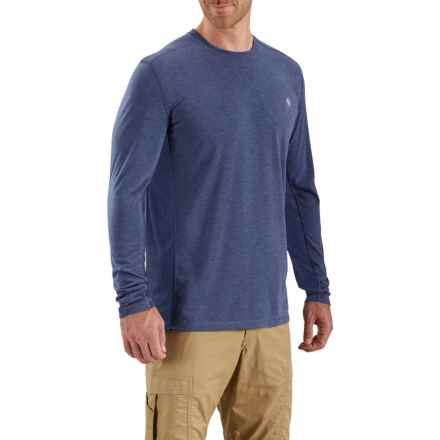 Carhartt Force Extremes T-Shirt - Long Sleeve (For Big and Tall Men) in Blueprint Heather/Blueprint - Closeouts