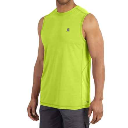 Carhartt Force Extremes® T-Shirt - Sleeveless, Factory Seconds (For Men) in Sour Apple - 2nds