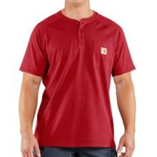 Carhartt Force Henley Shirt - Short Sleeve (For Men) in Crimson - 2nds