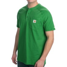 Carhartt Force Henley Shirt - Short Sleeve (For Men) in Greenland - 2nds