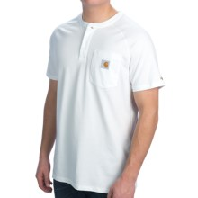Carhartt Force Henley Shirt - Short Sleeve (For Men) in White - 2nds
