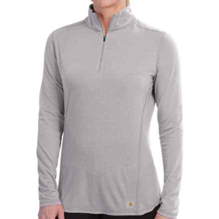 Carhartt Force High-Performance Shirt - Zip Neck, Long Sleeve (For Women) in Asphalt Heather - 2nds
