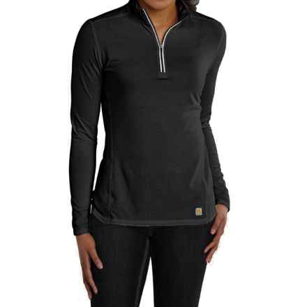 Carhartt Force High-Performance Shirt - Zip Neck, Long Sleeve (For Women) in Black - 2nds
