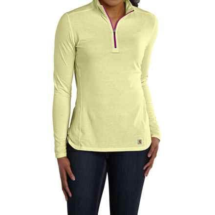 Carhartt Force High-Performance Shirt - Zip Neck, Long Sleeve (For Women) in Citron Heather - 2nds