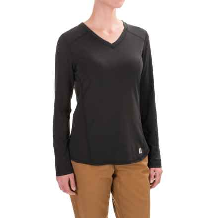 Carhartt Force High-Performance T-Shirt - Long Sleeve, Factory Seconds (For Women) in Black - 2nds