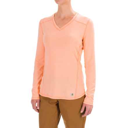 Carhartt Force High-Performance T-Shirt - Long Sleeve, Factory Seconds (For Women) in Fresh Peach Heather - 2nds
