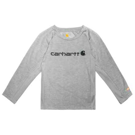 Carhartt Force Logo T-Shirt - Long Sleeve (For Little Boys) in Grey - Closeouts