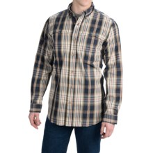 Carhartt Force Mandan Plaid Shirt - Long Sleeve (For Men) in Navy - Closeouts