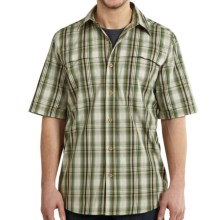 Carhartt Force Mandan Plaid Shirt - Short Sleeve (For Big and Tall Men) in Bronze Green - Closeouts