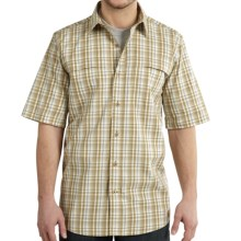 Carhartt Force Mandan Plaid Shirt - Short Sleeve (For Big and Tall Men) in Dark Khaki - Closeouts