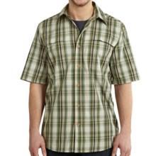 Carhartt Force Mandan Plaid Shirt - Short Sleeve (For Men) in Bronze Green - Closeouts