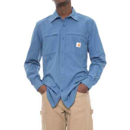 Carhartt Force Mandan Solid Shirt - Long Sleeve, Factory Seconds (For Men) in Lead Space Dye - 2nds
