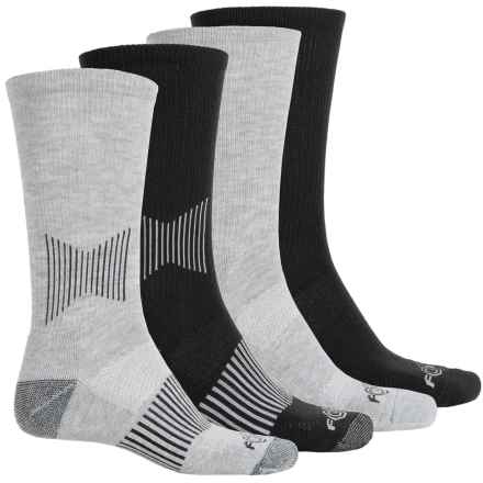 Carhartt Force® Midweight Socks - 4-Pack, Crew (For Men) in Black/Grey - Closeouts