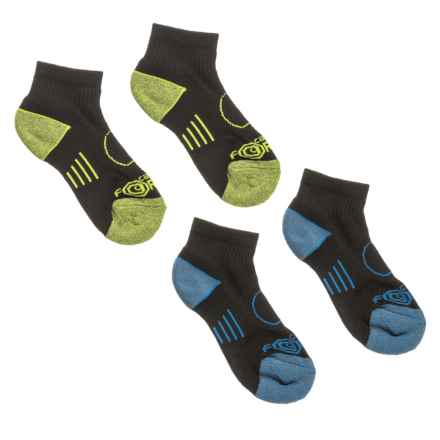 Carhartt Force® Performance Socks - Quarter Crew (For Boys) in Blue/Black - Closeouts