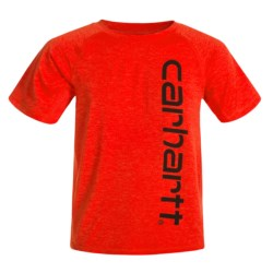 Carhartt Force® Pieced Raglan T-Shirt - Short Sleeve (For Big Boys) in Fiery Red Heather