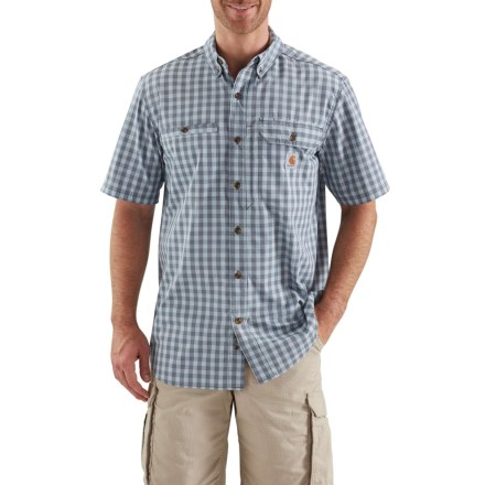 9569caa8aeb Carhartt Force® Ridgefield Plaid Shirt - Short Sleeve (For Big and Tall Men)