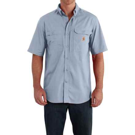 Carhartt Force® Ridgefield Shirt - Short Sleeve (For Big and Tall Men) in Celestial Blue - Closeouts
