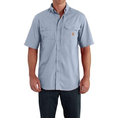 Carhartt Force® Ridgefield Shirt - Short Sleeve (For Big and Tall Men) in Celestial Blue
