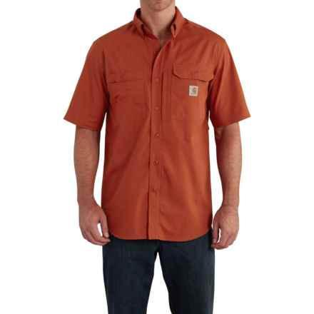 Carhartt Force® Ridgefield Shirt - Short Sleeve (For Big and Tall Men) in Spice - Closeouts