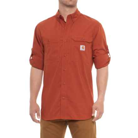 Carhartt Force® Ridgefield Solid Shirt - Long Sleeve, Factory Seconds (For Men) in Spice - 2nds