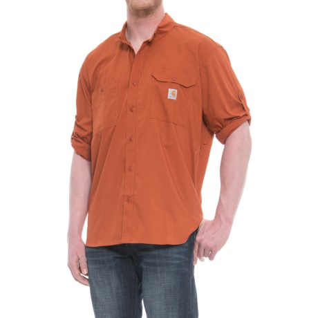 3cf02c02a1 Carhartt Force® Ridgefield Solid Shirt - Long Sleeve (For Big and Tall Men)