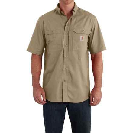 Carhartt Force Ridgefield Solid Shirt - Short Sleeve (For Men) in Dark Khaki - Closeouts