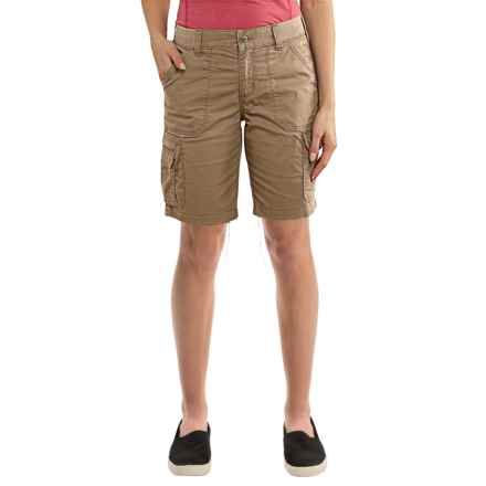 Carhartt Force Rugged Flex Lakota Shorts - Factory Seconds (For Women) in Spring Khaki - 2nds