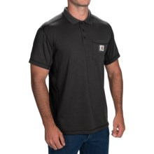 Carhartt Force® Rugged Flex® Polo Shirt - Short Sleeve (For Men) in Black - 2nds