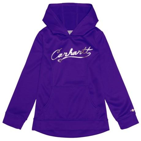 Carhartt Force® Script Logo Hoodie (For Big Girls) in Dark Purple