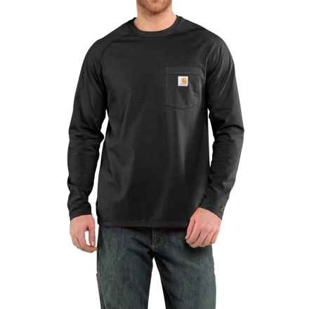 Carhartt Force® T-Shirt - Long Sleeve (For Big and Tall Men) in Black - Closeouts