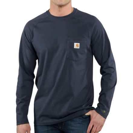 Carhartt Force® T-Shirt - Long Sleeve (For Big and Tall Men) in Navy - Closeouts