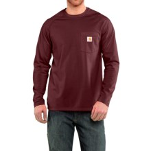 Carhartt Force® T-Shirt - Long Sleeve (For Big and Tall Men) in Port - Closeouts