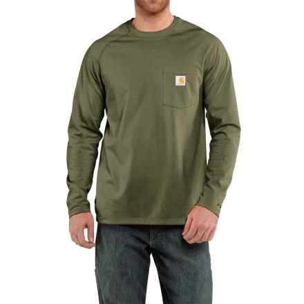 Carhartt Force T-Shirt - Relaxed Fit, Long Sleeve (For Men) in Moss - 2nds