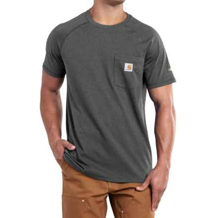 Carhartt Force T-Shirt - Short Sleeve, Factory Seconds (For Men) in Carbon Heather - 2nds