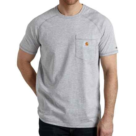Carhartt Force T-Shirt - Short Sleeve (For Big and Tall Men) in Heather Grey - 2nds