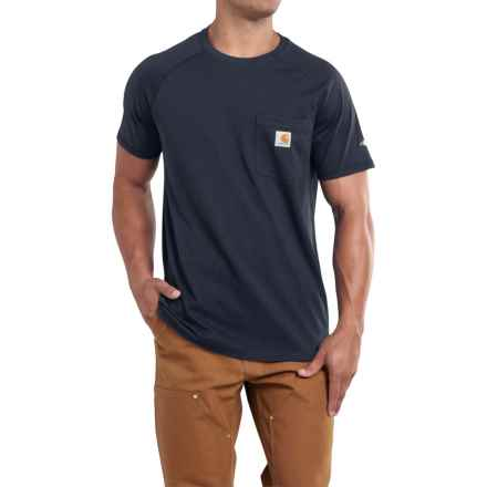 Carhartt Force T-Shirt - Short Sleeve (For Big and Tall Men) in Navy - 2nds