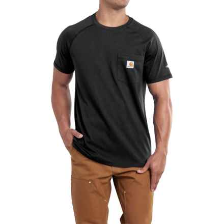 Carhartt Force T-Shirt - Short Sleeve (For Men) in Black - 2nds