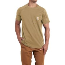 Carhartt Force T-Shirt - Short Sleeve (For Men) in Dark Khaki - 2nds