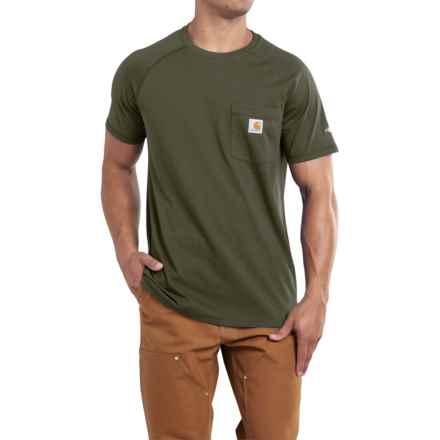 Carhartt Force T-Shirt - Short Sleeve (For Men) in Moss - 2nds