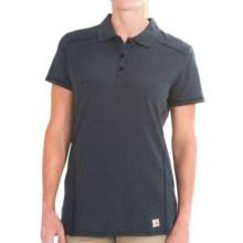 Carhartt Force Verdon Polo Shirt - Short Sleeve (For Women) in Indigo Heather - 2nds