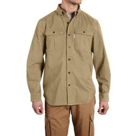 Carhartt Foreman Solid Work Shirt - Long Sleeve, Factory Seconds (For Men) in Dark Khaki - 2nds
