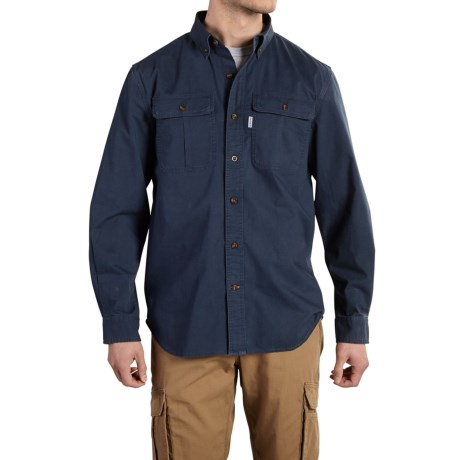 Carhartt Foreman Solid Work Shirt - Long Sleeve (For Big and Tall Men) in Navy