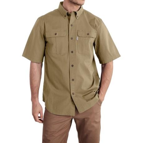 Carhartt Foreman Solid Work Shirt - Short Sleeve (For Big and Tall Men) in Dark Khaki