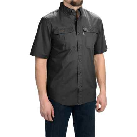 Carhartt Foreman Solid Work Shirt - Short Sleeve (For Men) in Black - 2nds