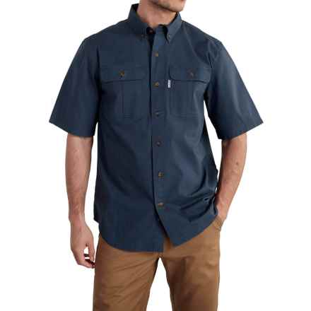 Carhartt Foreman Solid Work Shirt - Short Sleeve (For Men) in Navy - Closeouts