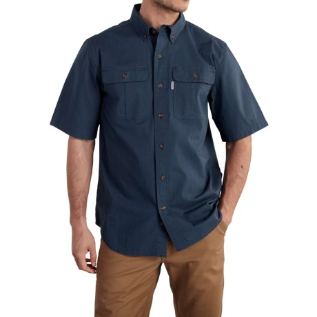Carhartt Foreman Solid Work Shirt - Short Sleeve (For Men) in Navy