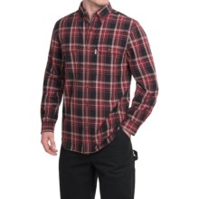 Carhartt Fort Plaid Chambray Shirt - Long Sleeve (For Big and Tall Men) in Black - 2nds