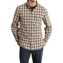 Carhartt Fort Plaid Chambray Shirt - Long Sleeve (For Big and Tall Men) in Dark Brown - 2nds