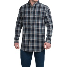 Carhartt Fort Plaid Chambray Shirt - Long Sleeve (For Big and Tall Men) in Navy - 2nds